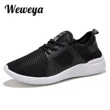 b268d0c46 Weweya الشهيرة العلامة التجارية أحذية رياضية عالية الجودة الرجال عارضة أحذية  الدانتيل متابعة شبكة الأحذية جديد