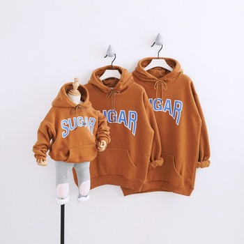 HT2053 Spring Autumn Sweatshirts Winter Clothes Mother Baby Father Costume Family Matching Outfits Thick Tops Kids Warm Outwear