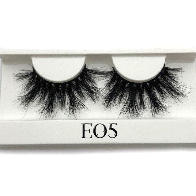 Mikiwi 25mm Mink False Eyelashes 25/50/75/100 pc Wholesale 3D Mink Lashes big white tray  Label Makeup Dramatic Long Mink Lashes 4