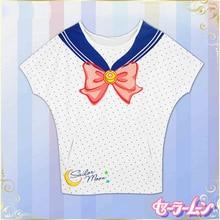 Anime 100% Algodón! Sailor Moon Tsukino Usagi traje de Marinero Batwing Cosplay t-shirt de Verano Top tee shirt en stock envío envío libre 2016