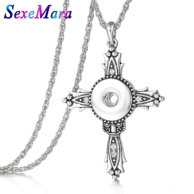 Vintage Snap Jewelry Cross...