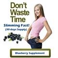Una Botella de 30 DÍAS de SUMINISTRO extractos de Arándanos producto 100% eficaz para adelgazar pérdida de peso suplemento dietético
