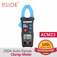 BSIDE ACM23 Mini Digital Clamp Meter 200A AC Current Voltage Auto Range Clamp Multimeter Voltmeter Ammeter