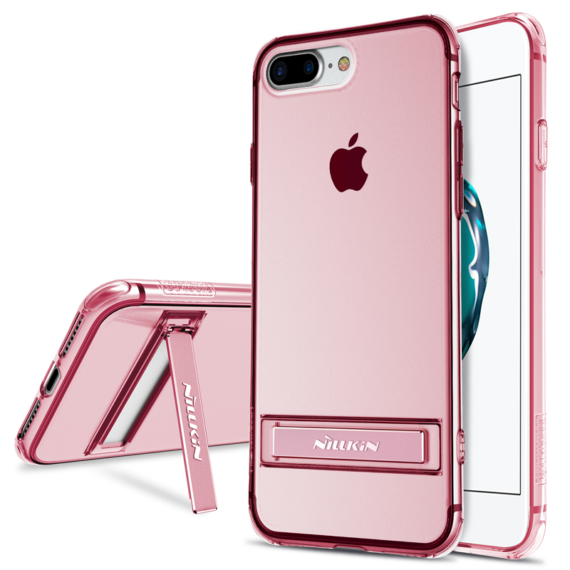NILLKIN for iphone 7 plus protective mobile <font><b>phone</b></font> bag case with stand holder Protector TPU case back cover for iphone 7 <font><b>7s</b></font> plus