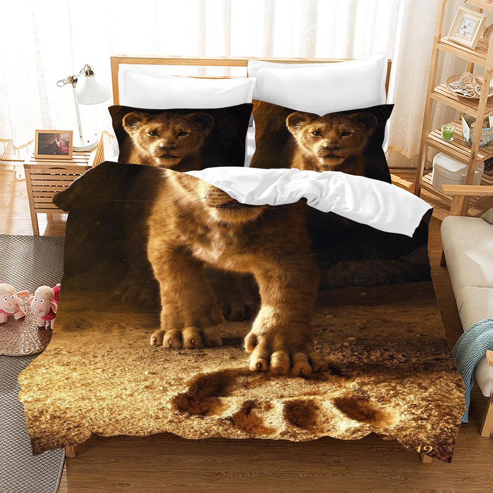 The Lion King Simba 3d Bedding Set Duvet Covers Bed Linens bed set Pillowcases Comforter Bedding Sets Bedclothes Bed Linen پوستر شیر