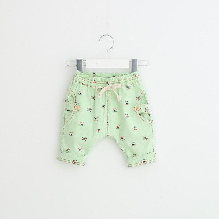 2017 new fashon boys shorts summer printed white gray green pink blue shorts kids casual cotton