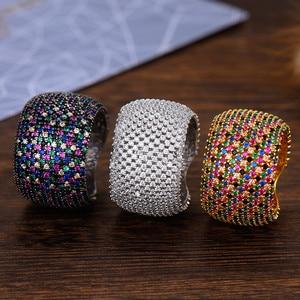 Image 2 - Godki luxo zircônia cúbica anéis de casamento para mulheres nupcial noivado casamento jóias cz femmale acessórios dedo inteiro anéis