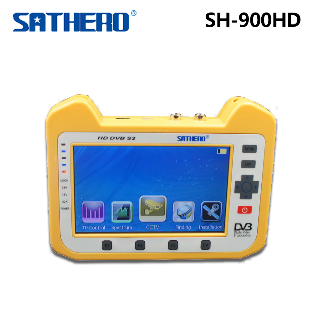 Genuine Sathero SH-900HD DVB-S2 Satellite Finder Meter with Spectrum Analyzer Coaxial Digital Monitoring Test Function dvb s2 sathero sh 900hd satellite meter finder cctv in hd spectrum analyzer coaxial digital monitoring test function vs sh 910