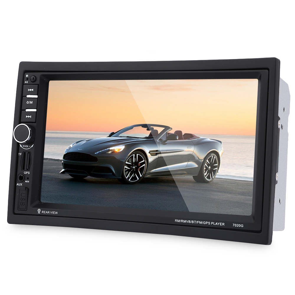 OllyMurs <font><b>7020G</b></font> 7 inch Car Audio Stereo MP5 Player 12V Auto Video Remote Control Rearview Camera GPS Navigation Function XL-10 image