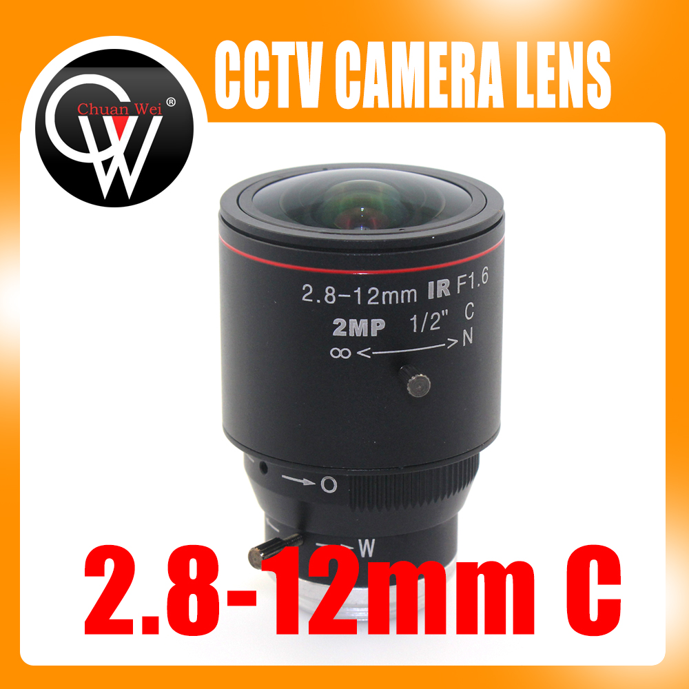 2MP HD 2.8-12mm cctv lens C Mount Manual Focal IR 1/2 1:1.4 for Security CCTV Camera IP Camera цена