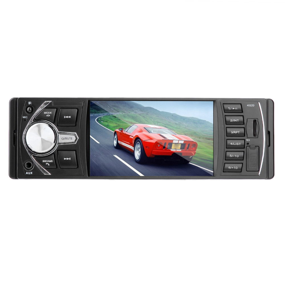 VODOOL 4.1in ISO Universal Plug Bluetooth Voiture Stéréo MP5 Lecteur Tête Unité Radio FM USB/AUX avec haute définition caméra