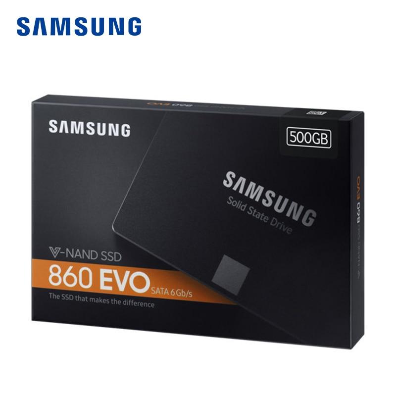 SAMSUNG SSD 860EVO 250GB 500GB Internal Solid State Disk HDD Hard Drive SATA3 2.5 inch Laptop Desktop PC  250 GB-in Internal Solid State Drives from Computer & Office    3
