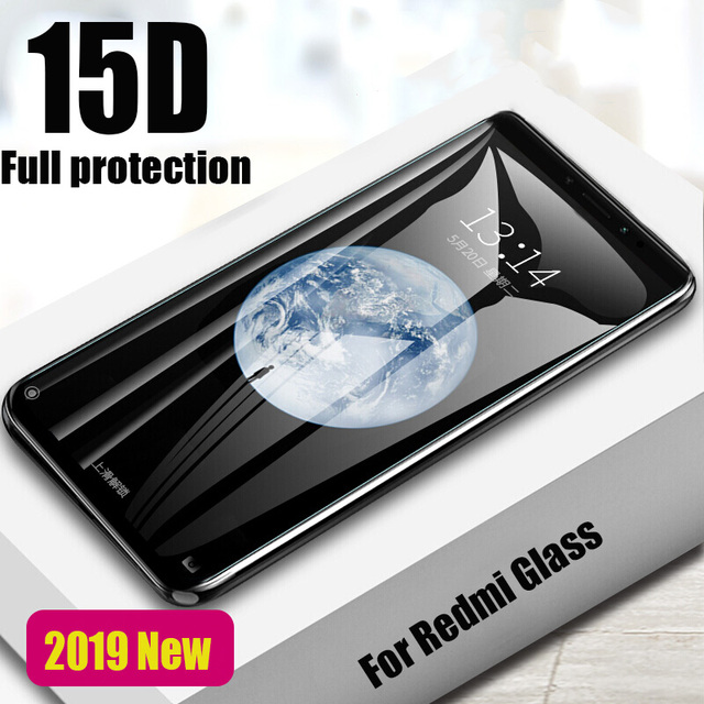 New 15D Full Cover Tempered Glass For Xiaomi Redmi Note 5 6 7 Pro Protective Glass Redmi 4X 4A 5A 6 6A 5 Plus Screen Protector