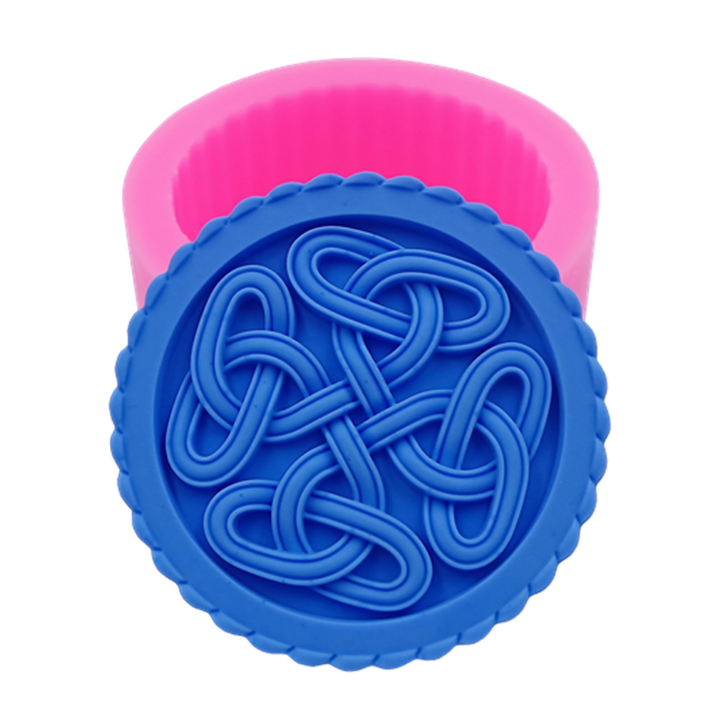Round Handmade Soap Mold Beautiful Silicone Mold for Natural Soap Making