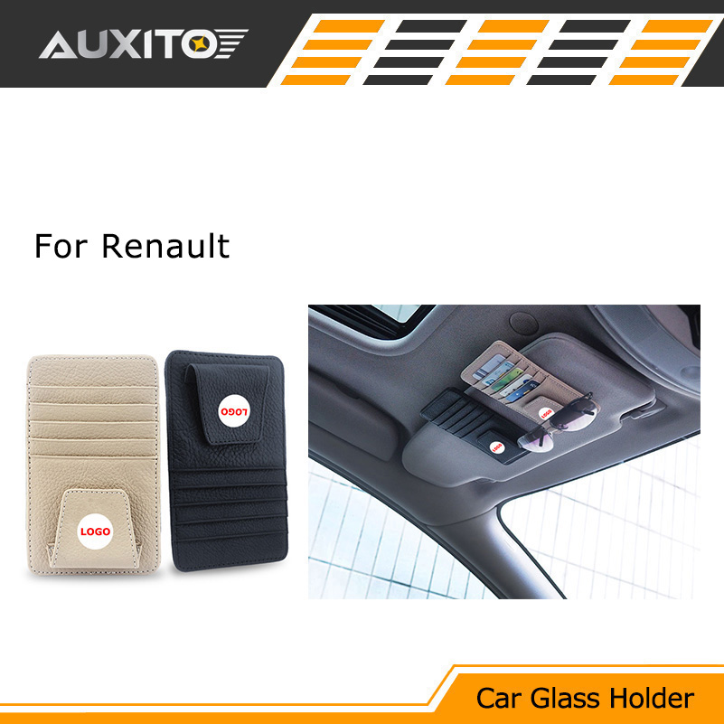 Car sun glasses holder Card bag For renault megane 2 3 duster logan clio laguna 2 sandero scenic captur trafic fluence scenic 2