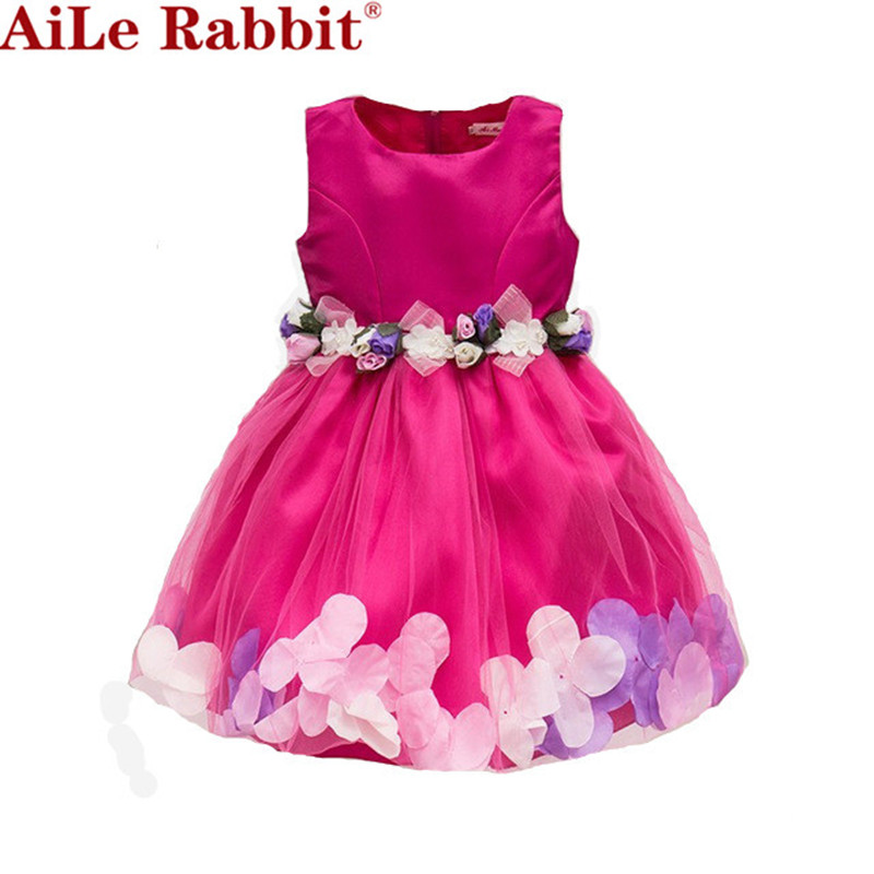 AiLe Rabbit  New Girls Wedding Dress Petal Flower Party Dress - Children's Clothing - Photo 2