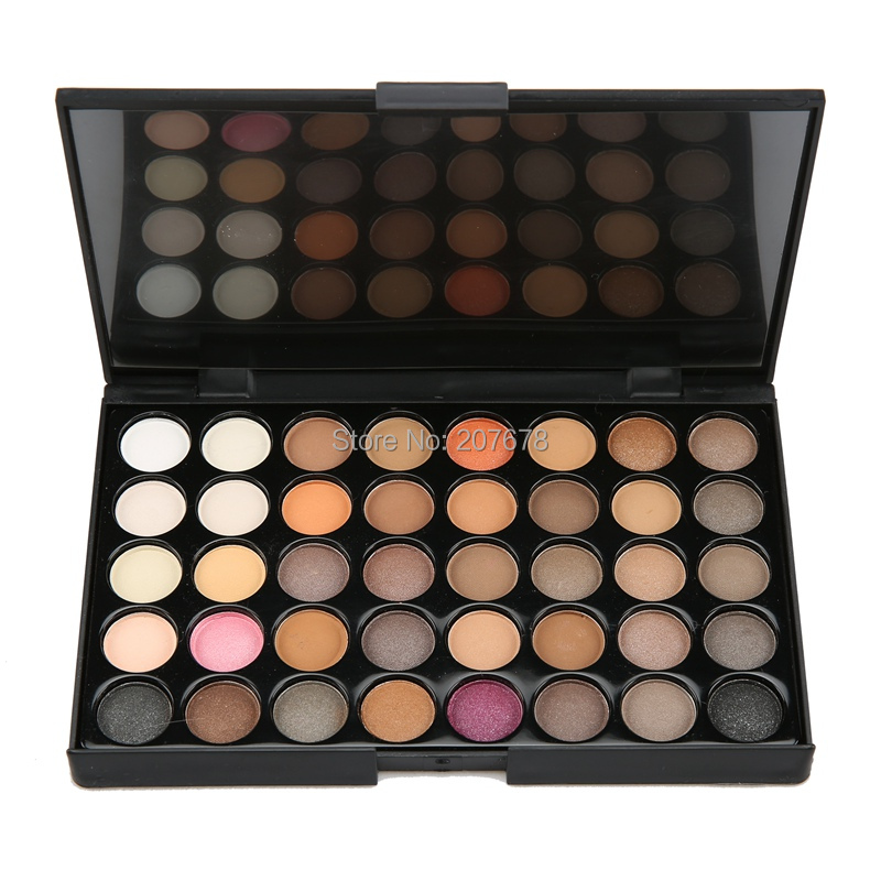 40 colors Eyeshadow Pallete Matte Make Up Earth Palette Glitter Waterproof Lasting loose nude Powder Eye Shadow Makeup Pigmented