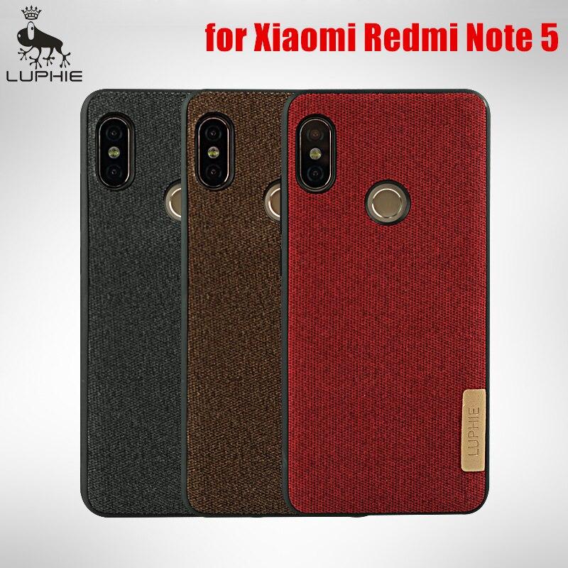 watch 586cb bc1c8 Redmi Note 5 Pro Case For Xiaomi Full-Round Bumper Lxury Cotton Cloth Back  Cover Original LUPHIE Funda Redmi Note 5 Pro Cases