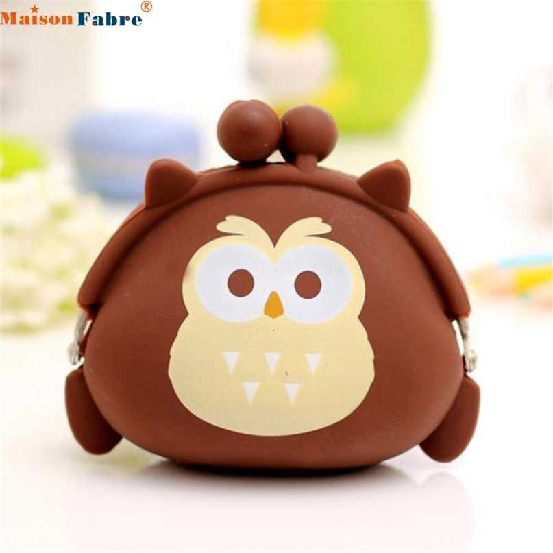 Maison Fabre New Jasmine Women Owl Silicone Jelly Wallet Change Bag Key Pouch Coin Purse Nov