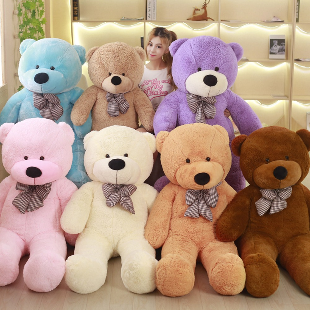 [7 COLORS] Giant teddy bear plush toys soft stuffed hot big bear toys brinquedos high quality children gift toys identifying