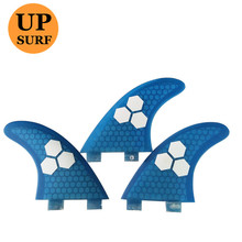 Surf Fins FCS G3 Fin Honeycomb Surfboard Fin/Blue/Green surfing fin Quilhas thruster surf accessories new style carbonfiber orange carbon strip fcs ii surfboard fins thruster fin set 3 compatible m7 surf fin