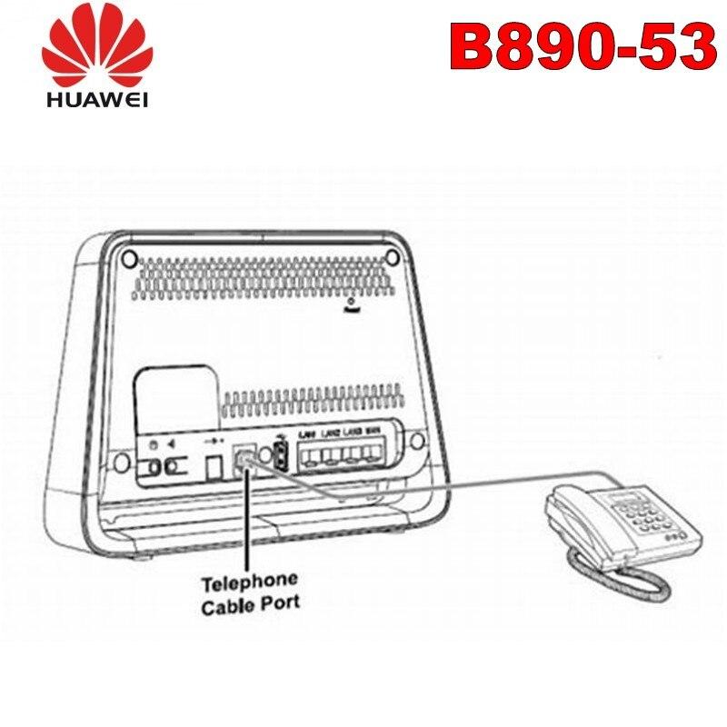 Huawei nouveauté déverrouiller LTE 100 Mbps 4g wifi routeur huawei b890-53