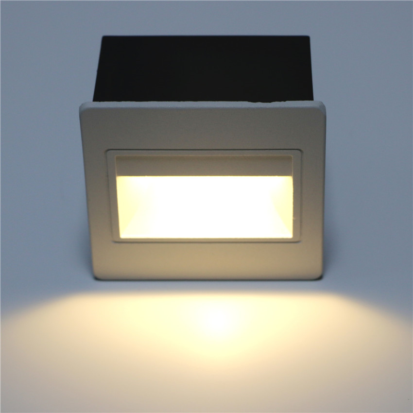 Wall Light LED Footlights IP65 Waterproof Outdoor Aluminum Wall Lamp For Square Hotel Stairs Step Foyer Wall Corner Lights BL13
