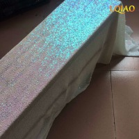 Wedding Party Glitter Changed White Carpets Decoration Mariage Shiny Sequin Rug Aisle Runner 4ftx25ft 1 2cmx750cm