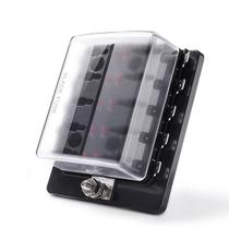 LED Illuminated Automotive Blade Fuse Holder Box 10-Circuit Fuse Block with Cover auto fuse box holder 12 ways circuit blade fuse box 32v terminal block holder circuit fuse holder with led indicator and sticker