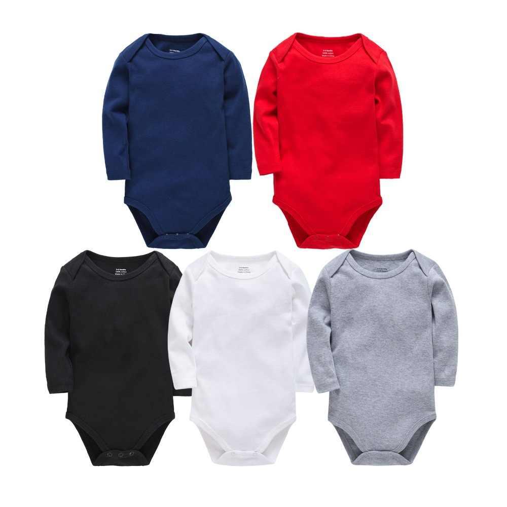 Детские хлопковое трико для новорожденных с длинными рукавами для мальчиков 0-24 месяцев Белый боди Bebes Blanco Roupa Menina одежда для маленьких девочек