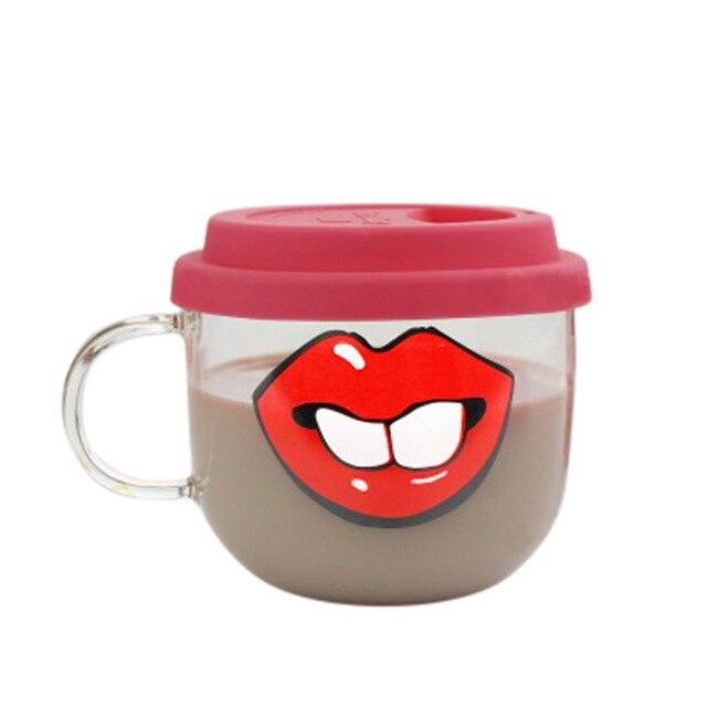 brixini.com - The Face Glass Mug 500ml