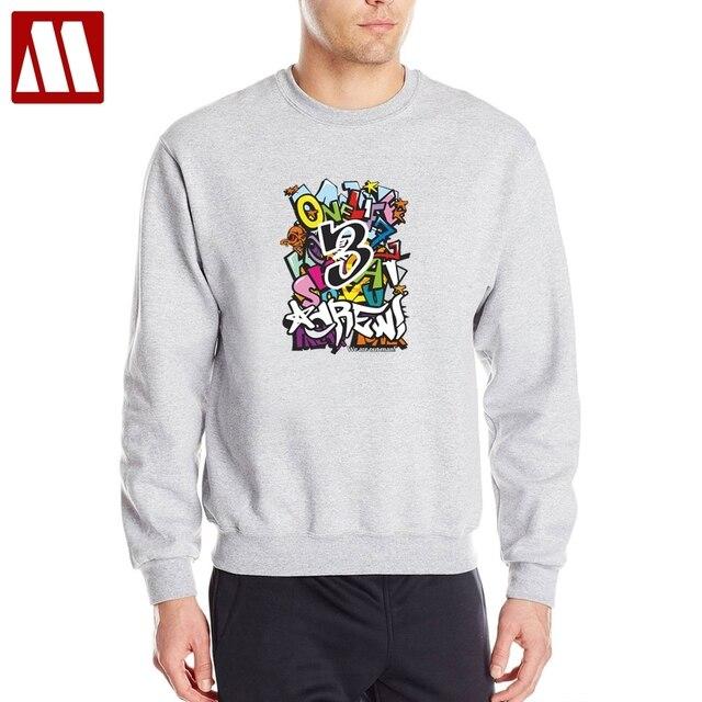 c971e1e5f5df Fashion Brand Streetwear Men 2019 Autumn Men's Graffiti Hoodies Funny print  Sweatshirts Cotton Casual Male Round
