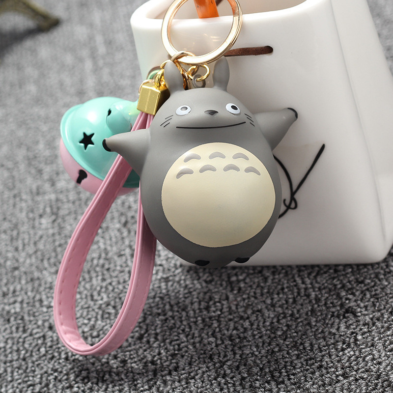 Extremely Cute My Neighbor Totoro Chinchillidae Keychain Pendant Fit For Bag Charms Purse Accessory Miyazaki Hayao Comic Fans hayao miyazaki anime my neighbor totoro bead bracelet hand chain 925 sterling silver beautiful desigh for girl party 2 size