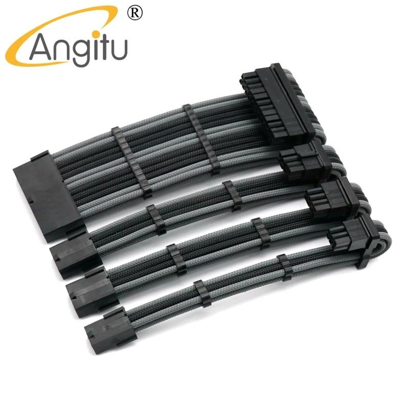 GPU 8Pin PCIe GPU 6Pin PCI-E Power Extension Cable Kit - CPU 8Pin Cable Length: 200mm, Color: Same As Image Occus ustom Make Computer 24Pin ATX
