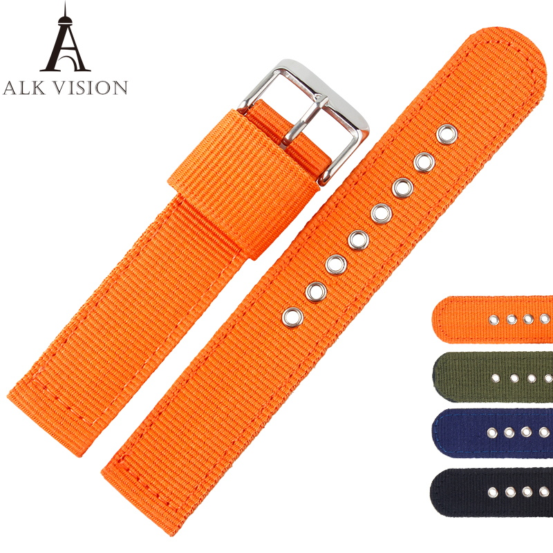 Canvas nylon band for watch watchband sports strap belt for women men watches accessory bracelet wristband diy parts 20 22mm takasima м 609