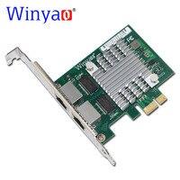 Winyao E350T2 PCI E X1 RJ45 Desktop Dual Port Gigabit Ethernet Lan 10/100/1000Mbps Network Interface Card For i350 T2 NIC