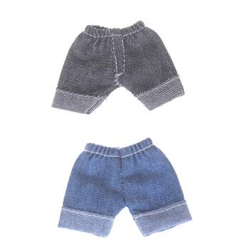 1 Unidad 2 Color pantalones vaqueros muñeca Leggings Obitsu11 OB11 1/12 BJD muñeca pantalones cortos Ropa Accesorios Jeans pantalones cortos