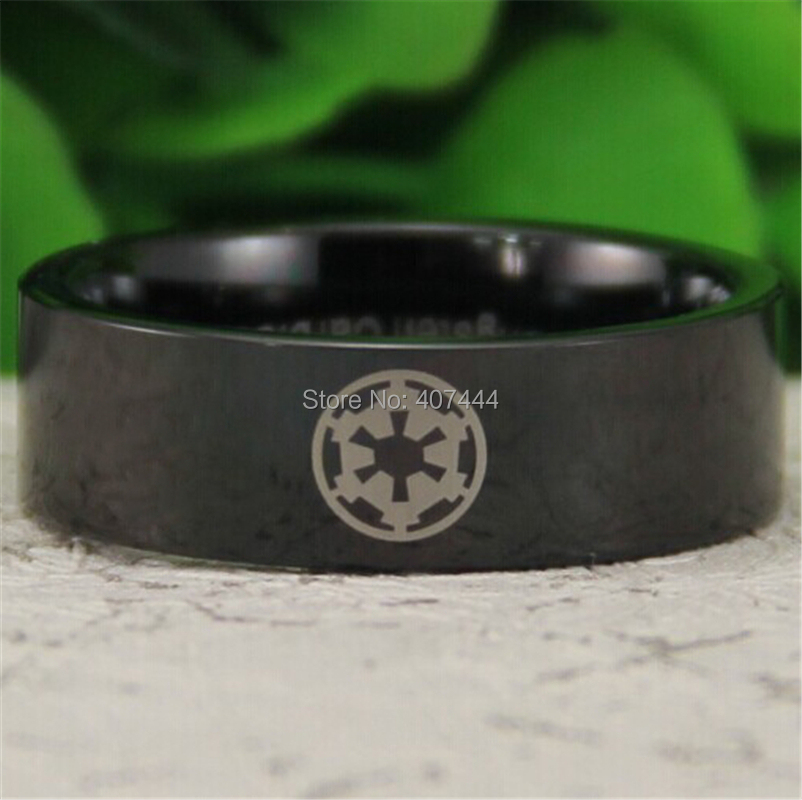 Free Shipping YGK JEWELRY Hot Sales 8MM Black Pipe Star Wars Imperial Empire Men's Comfort Tungsten Wedding Ring free shipping 2015 new hot saler star wars original english books