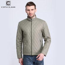 City Class 2018 Top New Spring Autumn Men's Short Jacket Coat Business Stand Collar Fashion Quilted Outwear Free Shipping 15128(China)