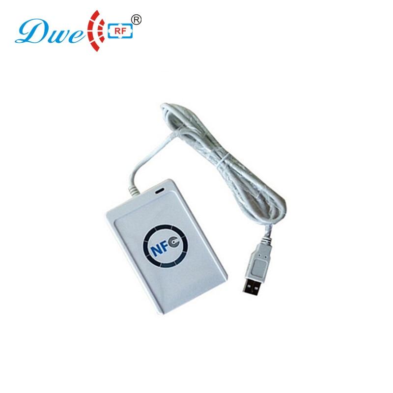 Lecteurs de carte DWE CC RF 13.56 mhz carte à puce intelligente lecteur USB nfc compatible avec les étiquettes ISO14443A/B/ISO18092 nfc