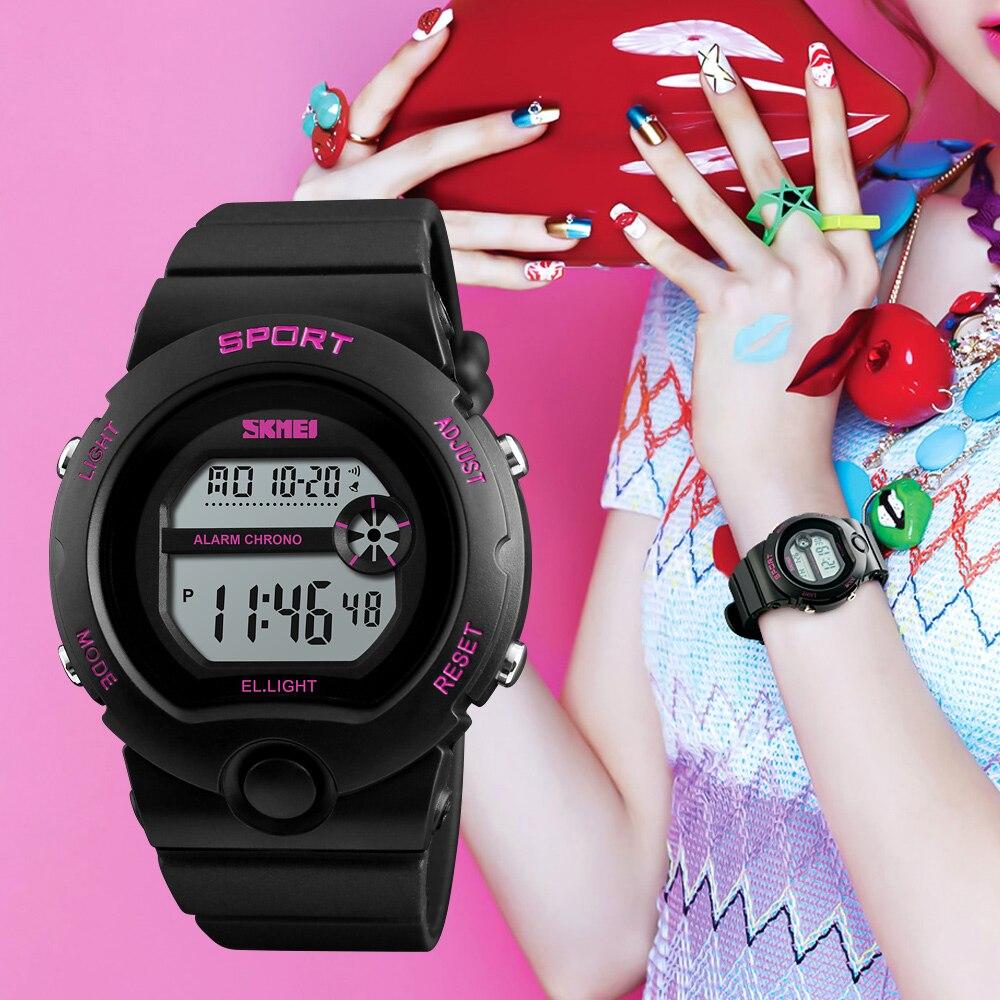 SKMEI Fashion Relogio Feminino Reloj De Mujer Ladies Watch Woman Waterproof Watches Female Alarm Digital Women Wrist Watches