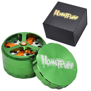 Image 1 - Honeypuff Kruid Tabak Grinder 63Mm/2.5 Inch 4 Deel Aluminium Crusher Moledor Roken Accessoires