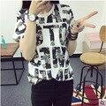 Corea nueva verano camisetas mujer letras grandes damas de gran tamaño render camisetas de la muchacha, las buenas mujeres que buscan camisetas