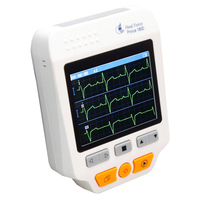 Heal Force Easy Handheld ECG Monitoring Machine Mini Portable LCD Electrocardiogram Heart Monitor Health Care Prince 180D + SPO2
