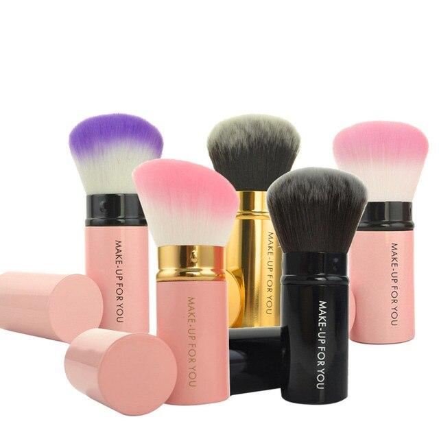 1 piezas Kabuki retráctil Blush en polvo Fundación cepillo cosmético del maquillaje Kit de brochas maquillaje profesional pinceaux maquillage #7