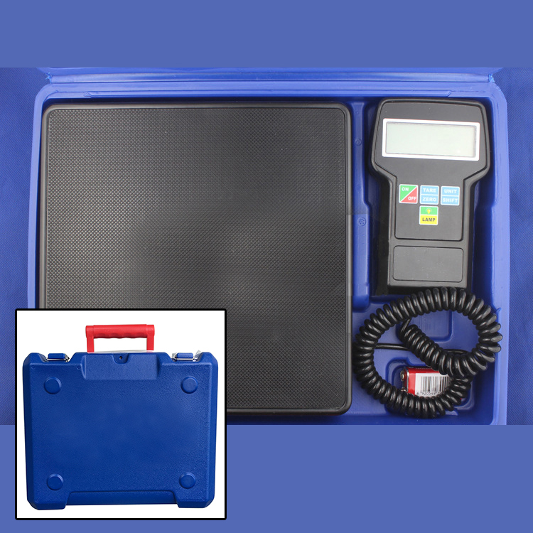Hot Sale Digital Electronic Refrigerant Charging Scale 220 lbs for HVAC With Case