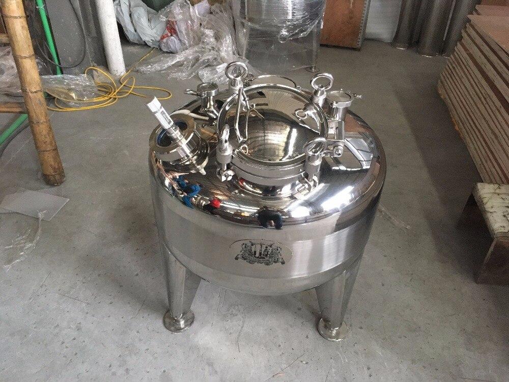 Novo tipo personalizado 100L camada única Caldeira, tanque de Destilador em aço inoxidável 304.