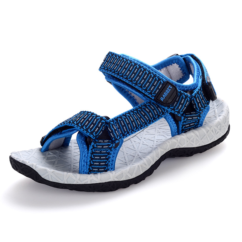 741f48391a93b New Summer Kids Sandals For Girls Boys Child Beach Shoes Fashion Striped  Hook-and-loop Kids ...