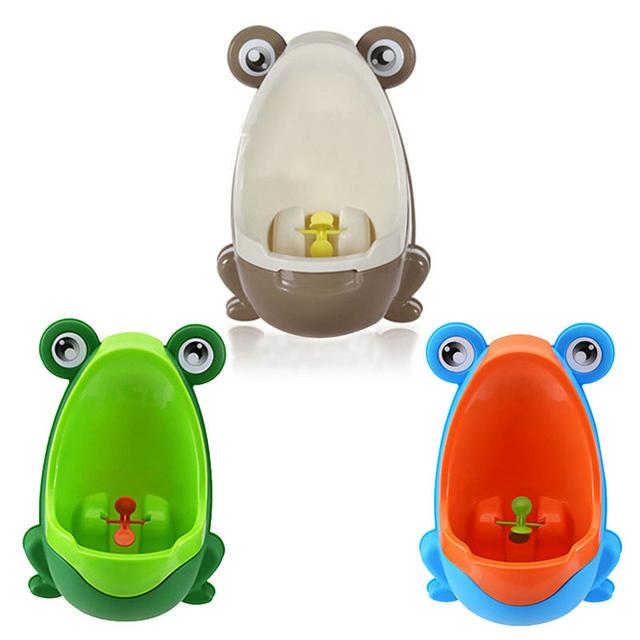 Azul Marrom PP Linda Crianças Stand Vertical Mictório Parede-Montado Urina Sulco Formadores Bacio Bebé Menino Crianças Toalete Portátil