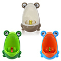 Blue Brown PP Lovely Children Stand Vertical Urinal Wall-Mounted Urine Groove Portable Baby Potty Boy Kids Toilet Trainers